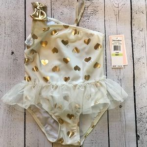 💕Sz 4 NWT Juicy Couture swim suit is darling!